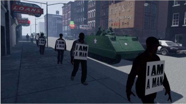 "An image for the VR film ""I Am A Man."" Photo courtesy of Derek Ham"