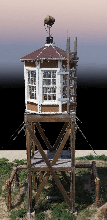 Guard tower point cloud