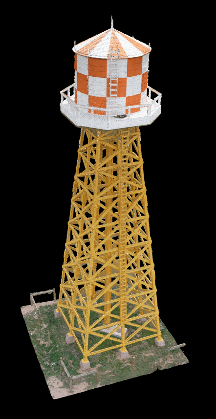 Water tower point cloud
