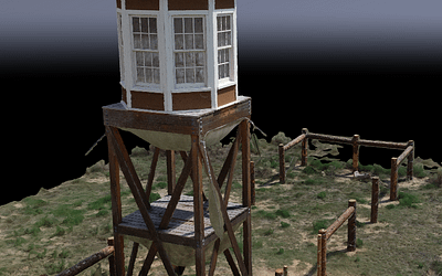 Amache Guard Tower in 3D