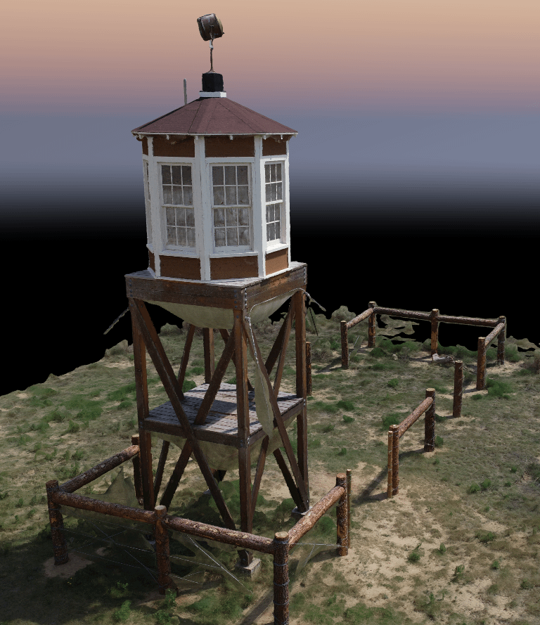 Guard tower textured mesh