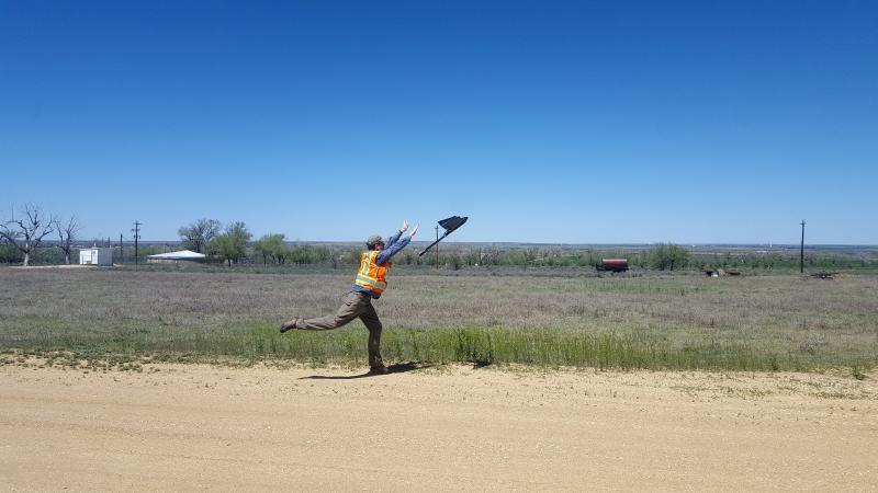 Launching the senseFly eBee X fixed wing drone